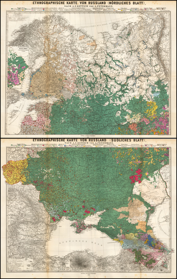 32-Poland, Russia, Ukraine and Baltic Countries Map By Augustus Herman Petermann