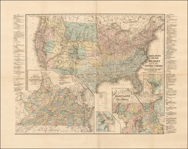 68-United States and Civil War Map By Charles Desilver