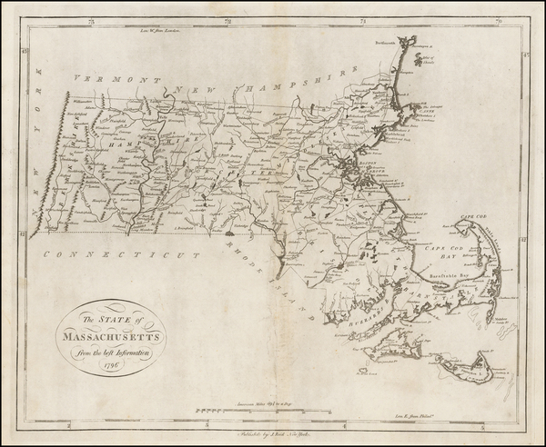31-Massachusetts Map By John Reid