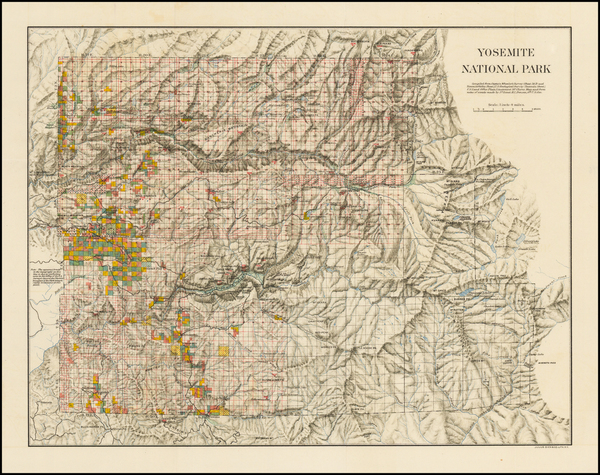 94-California and Yosemite Map By United States Department of the Interior