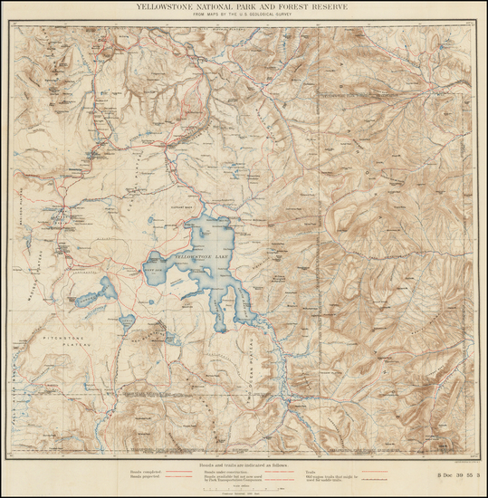 78-Idaho and Wyoming Map By U.S. Geological Survey