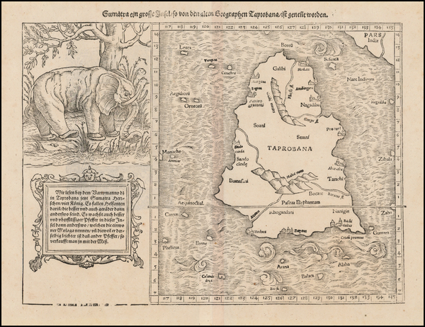 64-India and Other Islands Map By Sebastian Munster