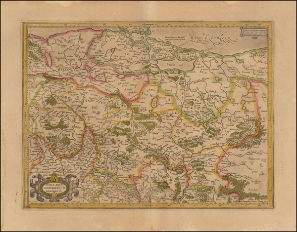 36-Germany and Poland Map By  Gerard Mercator