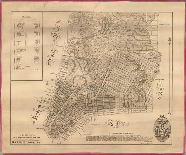 68-New York City Map By Casimir Goerck / Joseph Francois Mangin / Richard D. Cooke