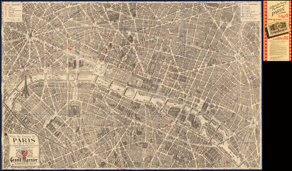 39-France and Paris Map By Georges Peltier