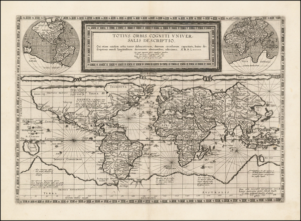 42-World Map By Cornelis de Jode