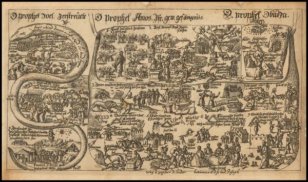 18-Comic & Anthropomorphic Map By Johannes Buno