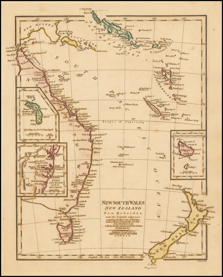 14-Australia, Oceania, New Zealand and Other Pacific Islands Map By Robert Wilkinson