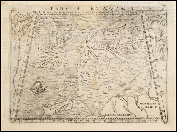18-British Isles Map By Giacomo Gastaldi