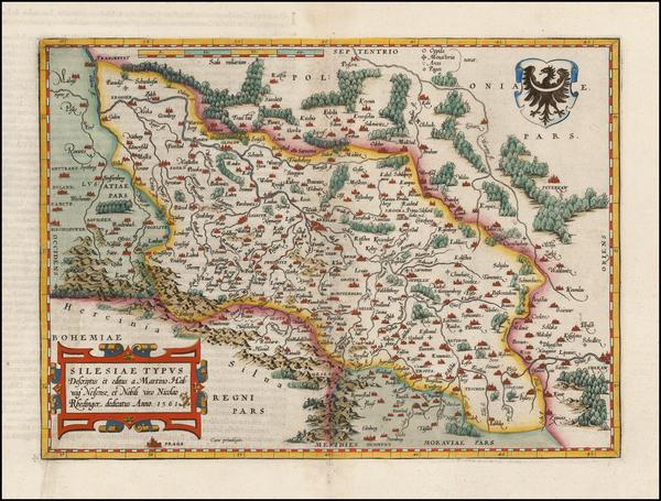 46-Germany and Poland Map By Abraham Ortelius