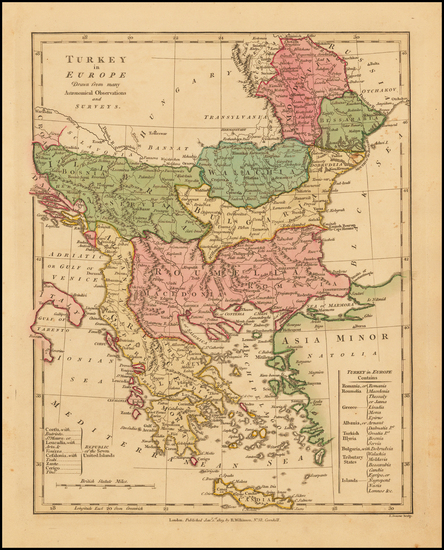 96-Balkans, Greece, Turkey and Mediterranean Map By Robert Wilkinson