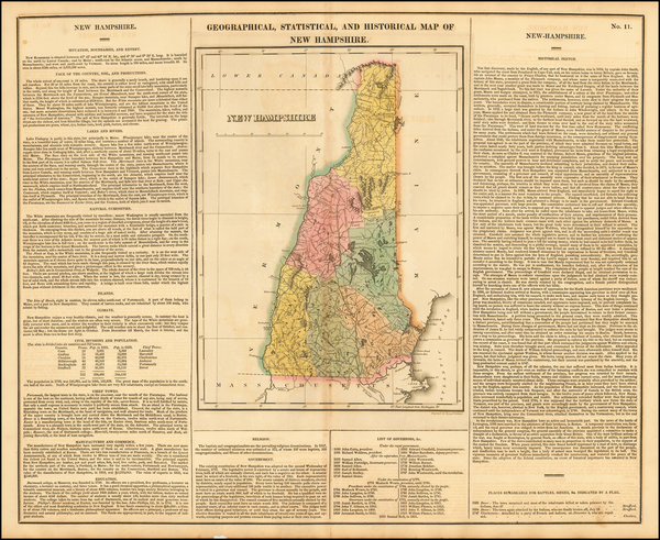 33-New England and New Hampshire Map By Henry Charles Carey  &  Isaac Lea