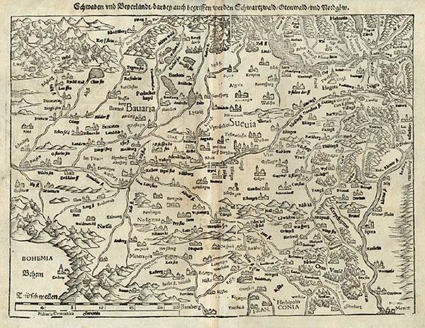 8-Europe, Switzerland and Germany Map By Sebastian Munster
