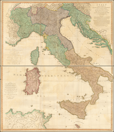 72-Italy Map By William Faden