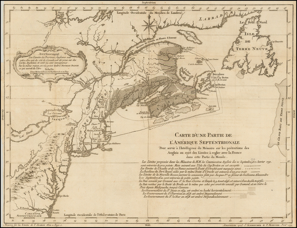 98-United States, New England, Canada and Eastern Canada Map By J Schreuder