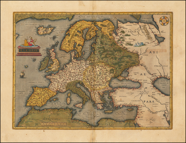 91-Europe Map By Abraham Ortelius
