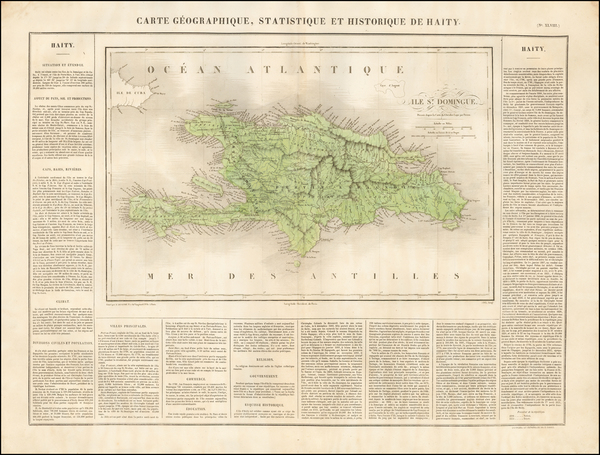 23-Caribbean and Hispaniola Map By Jean Alexandre Buchon