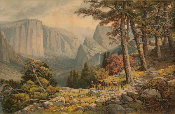53-Yosemite Map By Andrew Melrose