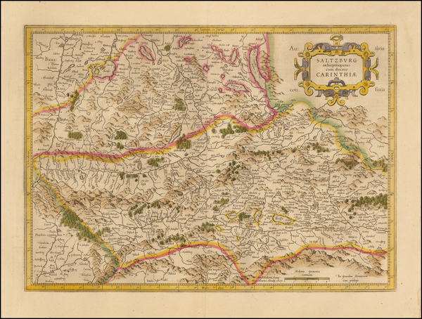 90-Austria Map By  Gerard Mercator