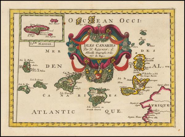 23-African Islands, including Madagascar Map By Nicolas Sanson