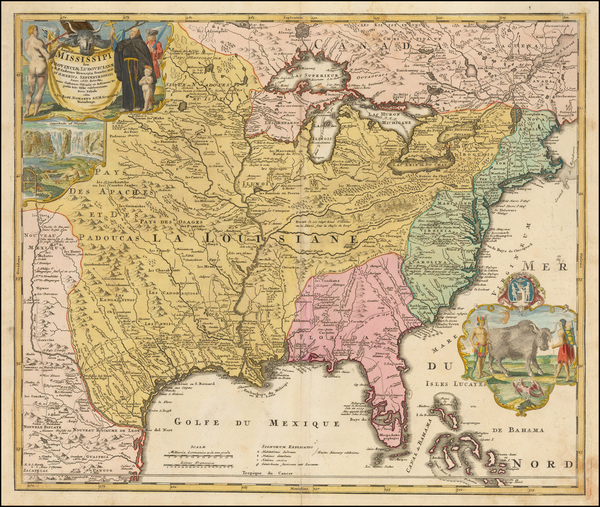 43-United States, South, Southeast, Texas, Midwest, Plains and Southwest Map By Johann Baptist Hom