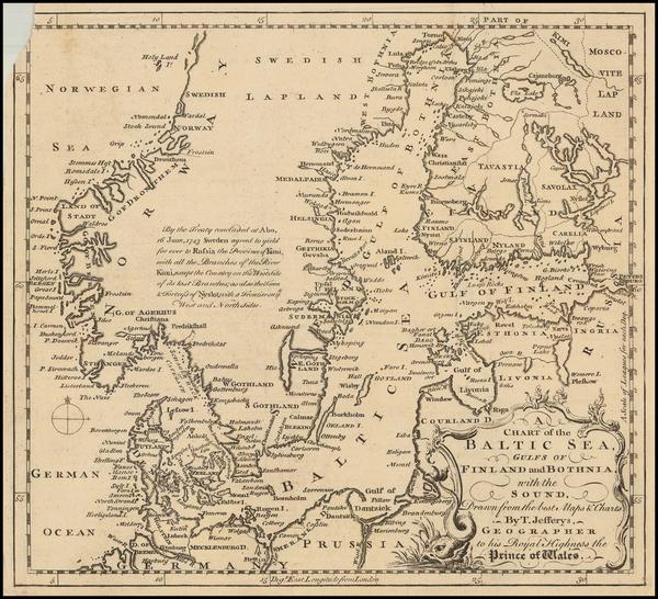 39-Baltic Countries and Scandinavia Map By Thomas Jefferys