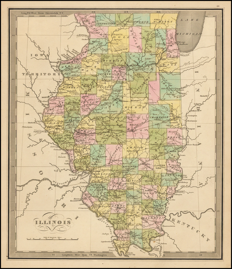 Midwest and Illinois Map By Jeremiah Greenleaf