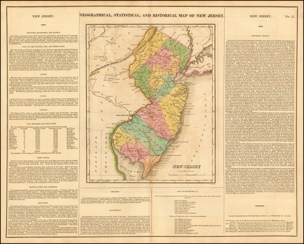 69-New Jersey Map By Henry Charles Carey  &  Isaac Lea