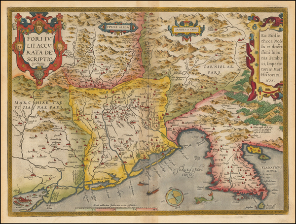 92-Balkans and Italy Map By Abraham Ortelius