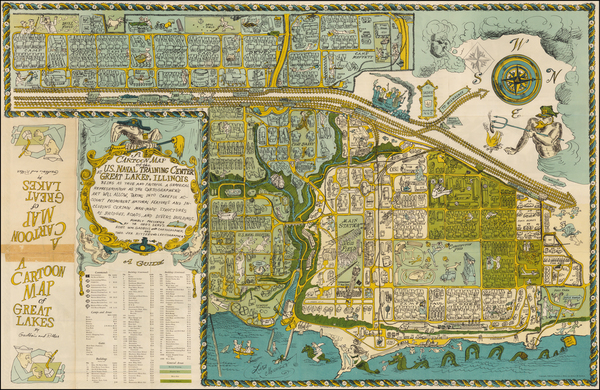 97-Midwest Map By Robert William Gadbois  &  Theodore Jerome Ritter