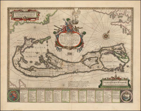 33-Bermuda Map By Willem Janszoon Blaeu