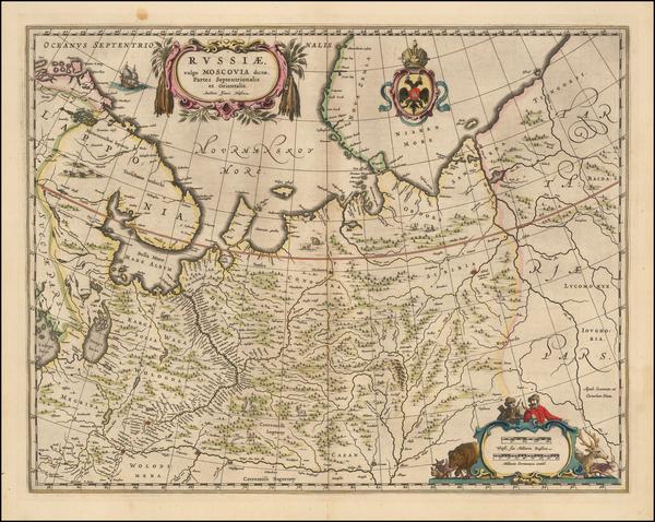 71-Russia Map By Johannes et Cornelis Blaeu