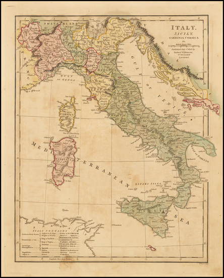 21-Italy and Balearic Islands Map By Robert Wilkinson