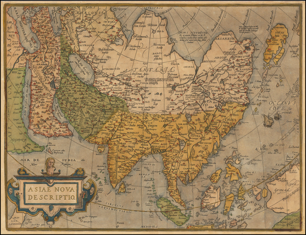 90-Asia, Asia, Australia & Oceania and Oceania Map By Abraham Ortelius