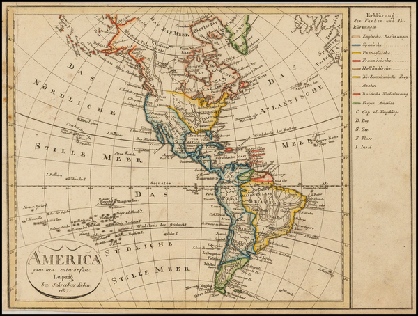 30-South America and America Map By Schreibers Erben