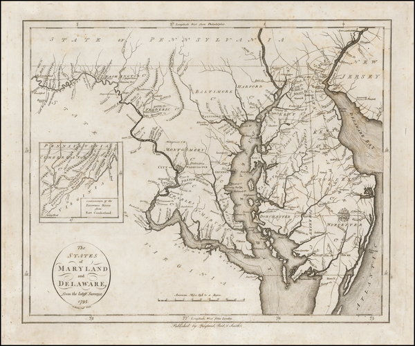 85-Mid-Atlantic, Maryland and Delaware Map By John Reid