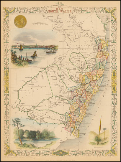 21-Australia Map By John Tallis