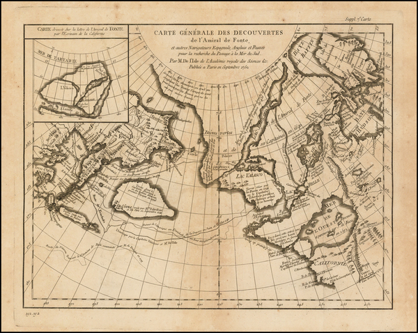 8-Alaska, Canada and Russia in Asia Map By Denis Diderot / Didier Robert de Vaugondy