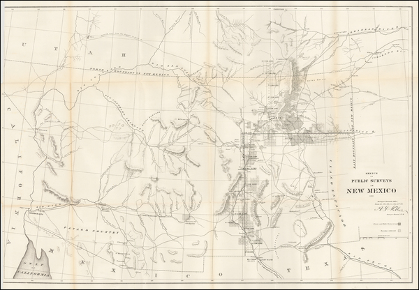 Southwest, Arizona, New Mexico and Rocky Mountains Map By U.S. General Land Office