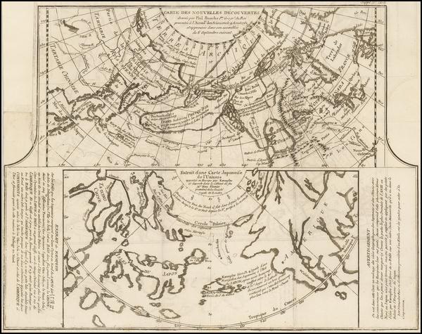 91-Alaska, Japan and Russia in Asia Map By Denis Diderot / Didier Robert de Vaugondy