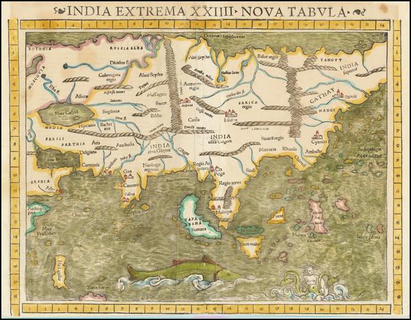 17-Asia Map By Sebastian Munster