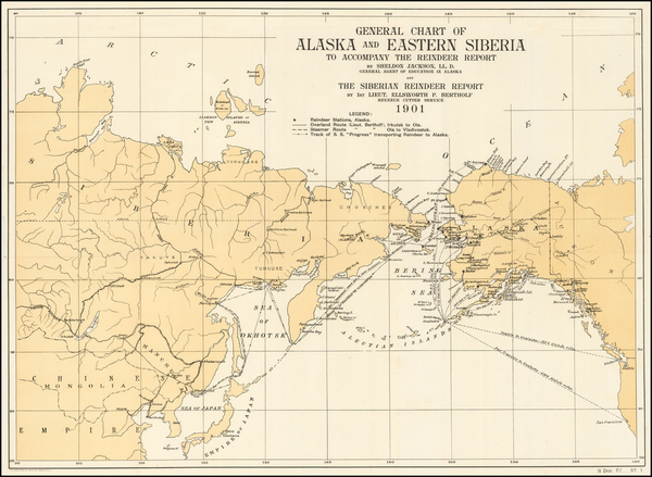 36-Alaska and Russia in Asia Map By United States GPO