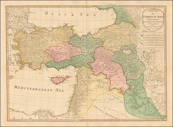 49-Middle East and Turkey & Asia Minor Map By Laurie & Whittle
