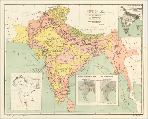 63-India Map By United States Treasury Department