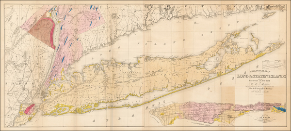 95-New York City and New York State Map By William W. Mather