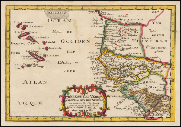 50-West Africa and African Islands, including Madagascar Map By Nicolas Sanson