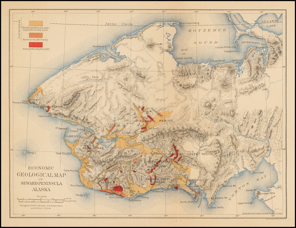 51-Alaska Map By Julius Bien & Co.