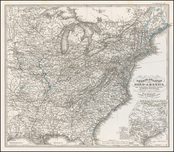 8-United States Map By Adolf Stieler