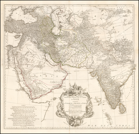Asia, Asia, India & Sri Lanka, Central Asia & Caucasus, Middle East and Turkey & Asia Minor Map By Jean-Baptiste Bourguignon d'Anville