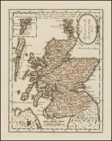 15-Scotland Map By Franz Johann Joseph von Reilly